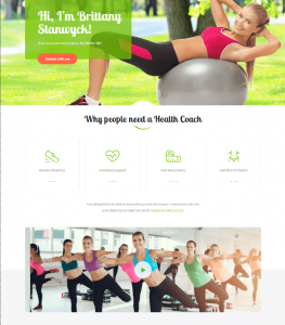 Life Coach WordPress theme – Life Coach For Personal Trainer