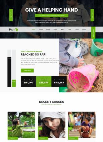 desain website donasi dan organisasi
