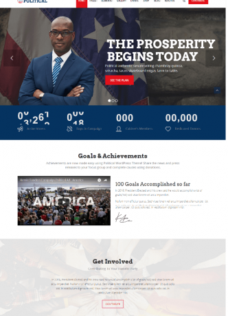 PoliticalWP – Multipurpose Political Campaign Election WordPress Theme1
