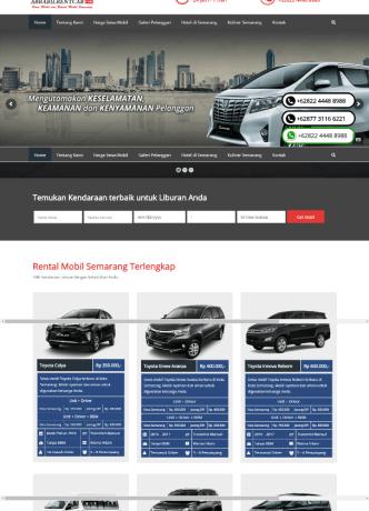 desain website rental mobil