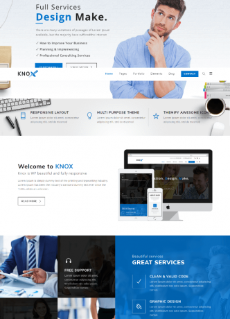 Business Modern website Theme