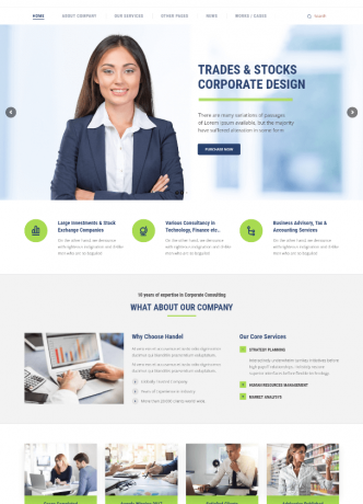 Corporate Business Website Theme