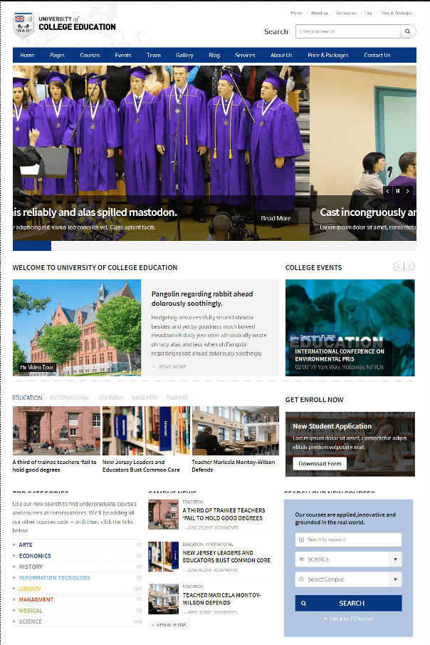 Desain Website Universitas V3