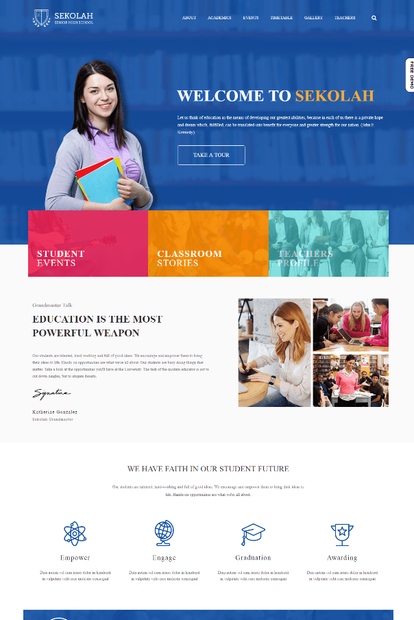 Desain Website Universitas V4