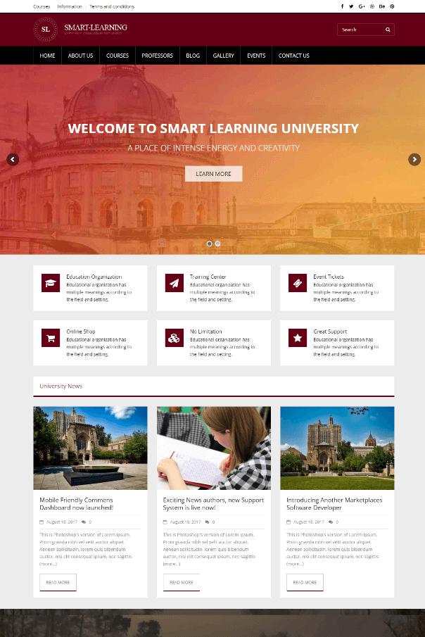 Desain Website Universitas V5