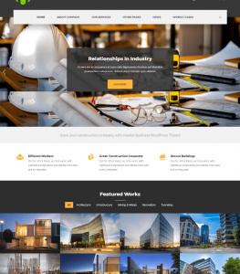 Professional Construction Website Theme