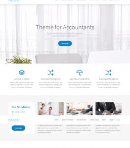 Professional Finance Website Theme