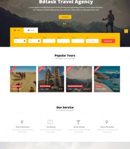 Desain Website Travel 2017
