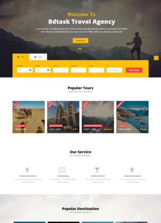 Desain Website Travel 2017