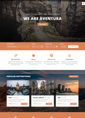 desain website journey travel