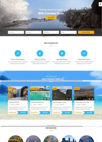desain website paket wisata