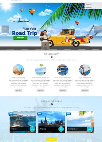 paket wisata desain website