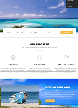 tour travel web desain