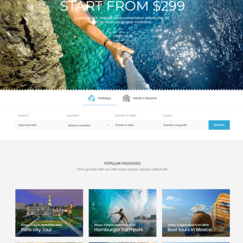 Jasa Pembuatan Website Paket Wisata Tour & Travel