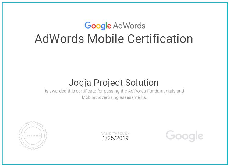 sertifikat adwords
