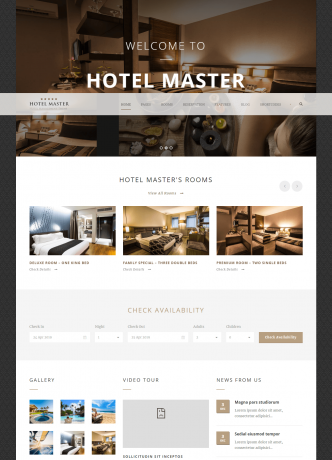 Hotel Master – Room Reservation WordPress Theme